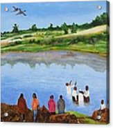 Arrival At The Baptism Acrylic Print