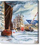 Arrival At The Hanse Sail Rostock Acrylic Print