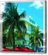 Art Deco Barbizon Hotel Miami Beach Acrylic Print