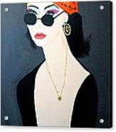 Art Deco  Hippy Girl Acrylic Print
