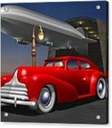 Art Deco Sedan Acrylic Print