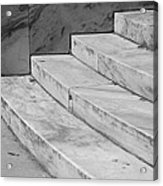 Art Deco Steps In Black And White Acrylic Print