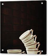 Art Deco Teacups Acrylic Print