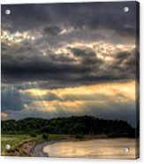 Art For Crohn's Lake Ontario Sun Beams Acrylic Print by Tim Buisman