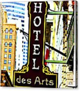 Art Hotel Acrylic Print