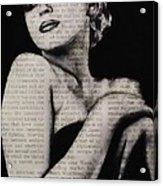 Art In The News 13-marilyn Acrylic Print