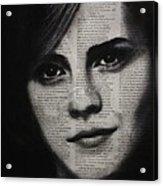 Art In The News 17-emma Watson Acrylic Print