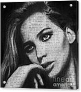 Art In The News 36- Jennifer Lawrence Acrylic Print