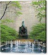 Art Institute Fountain Acrylic Print