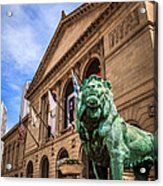 Art Institute Of Chicago Lion Statue Acrylic Print