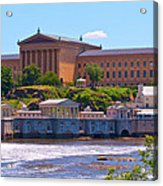 Art Museum And Fairmount Waterworks - Hdr Acrylic Print
