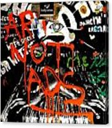 Art Not Ads Acrylic Print