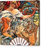Art Nouveau Biscuit Ad 1897 Acrylic Print