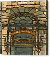 Art Nouveau Doorway In Ljubljana Acrylic Print