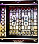 Art-nouveau Stained Glass Window Acrylic Print