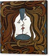 Art Nouveau Woodblock Print  1898 Acrylic Print