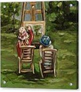 Art Of Teaching Oil Painting Acrylic Print
