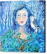 Artemis And The Wren- Acrylic Print