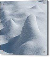 Artful Snowfall Acrylic Print