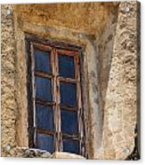 Artful Window At Mission San Jose In San Antonio Missions National Historical Park Acrylic Print