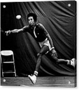 Arthur Ashe Returning Tennis Ball Acrylic Print