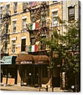 Arthur Avenue In The Bronx Acrylic Print