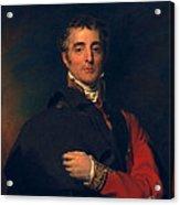 Arthur Wellesley, Duke Of Wellington Acrylic Print