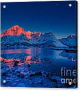 Artic Sunset Acrylic Print by Francesco Ferrarini