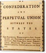 Articles Of Confederation, 1777 Acrylic Print