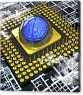 Artificial Intelligence, Conceptual Acrylic Print by Science Photo Library