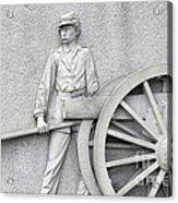Artillery Detail On Monument Acrylic Print