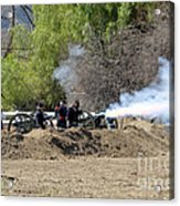 Artillery Support Acrylic Print