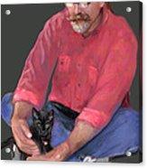 Artist At Play Acrylic Print