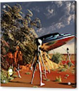 Artist Concept Of The Roswell Incident Acrylic Print