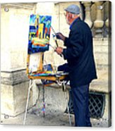 Artist In Paris Acrylic Print