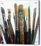 Artist Paintbrushes Acrylic Print by Garry Gay
