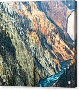 Artist Point - Yellowstone Park Horizontal Acrylic Print