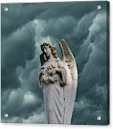 Artistic Creation Of Angel And Dark Acrylic Print