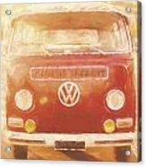 Artistic Digital Drawing Of A Vw Combie Campervan Acrylic Print