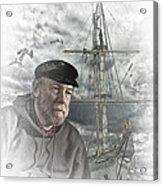 Artistic Digital Image Of An Old Sea Captain Acrylic Print