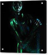 Artistic Nude  Green Skin  Acrylic Print