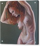 Artistic Nude Acrylic Print by Leida Nogueira