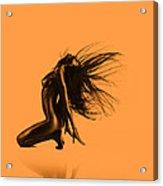 Artistic Nude Orange Acrylic Print
