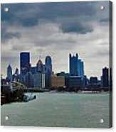 Artistic Pittsburgh Skyline Acrylic Print