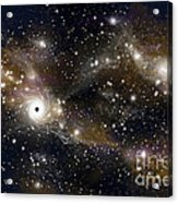 Artists Concept Of A Black Hole Acrylic Print by Marc Ward