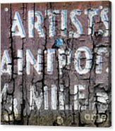 Artists' Paintpots Sign Acrylic Print