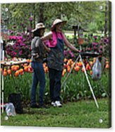 Artists Posing For Papparazzi Acrylic Print