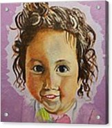 Artist's Youngest Daughter Acrylic Print by Marwan  Khayat