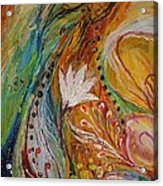 Artwork Fragment 30 Acrylic Print by Elena Kotliarker