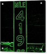 As Pure As It Gets In Green Neon Acrylic Print